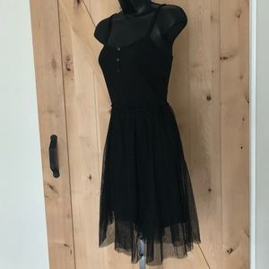 NWT English Factory tank dress tulle overlay S
